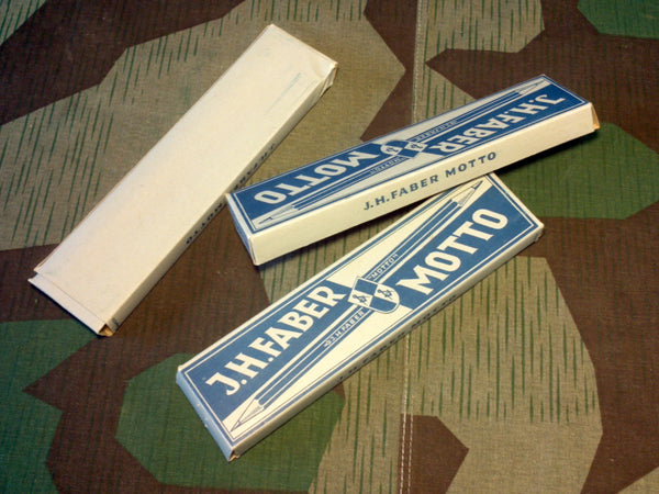 WWII-era German J.H.Faber Motto Pencils Empty Cardboard Box