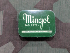 WWII-era German Mingol Cough & Fever Tablet Tin
