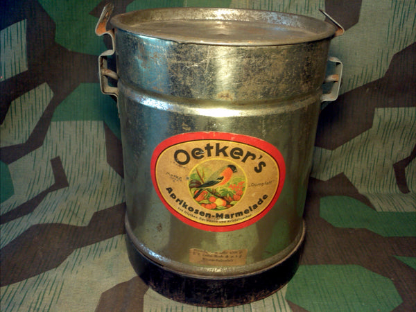 WWII-era German Oetker's Marmalade Can