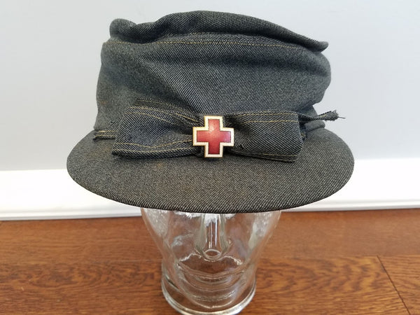 WWII American Red Cross ARC Winter Service Hat Uniform Cap