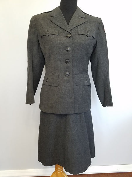 WWII American Red Cross Military Welfare Service Women's Uniform Named