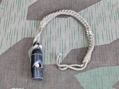 WWII German Army NCO's Whistle and Lanyard