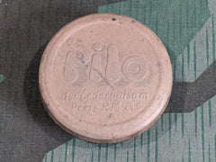 WWII German Pilo Leather Shoe Polish Container
