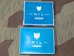 WWII German Set of 2 NIL Cigarette Tins / Boxes