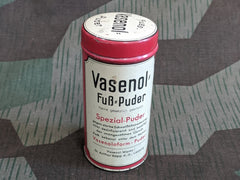 Vintage WWII German Vasenol Fuss-Puder Foot Powder Tin