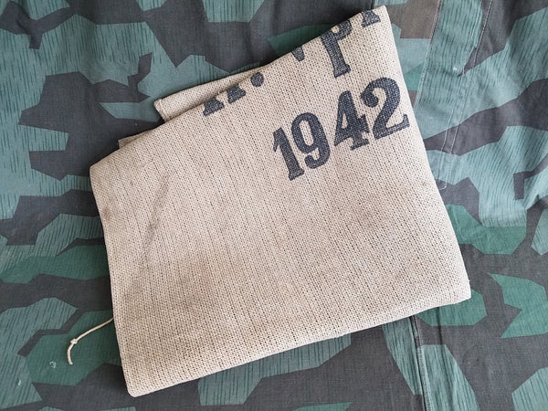 WWII German Wehrmacht H. Vpfl 1942 Ration Sack Paper Twine