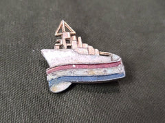 WWII Patriotic Boat Ship Pin Brooch