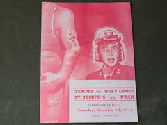 WWII 1944 Basketball Program with WAVE on the Cover