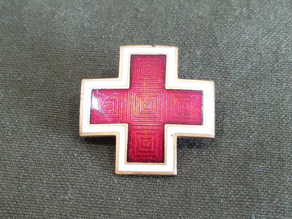 WWII American Red Cross Enamel Pin (for Women's Uniform Hats)