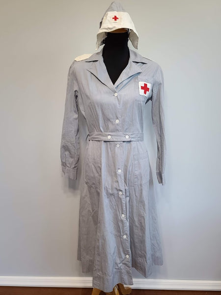 WWII American Red Cross Gray Lady Women's Uniform Dress & Hat