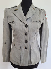 WWII American Red Cross Military Welfare Service Jacket AS-IS