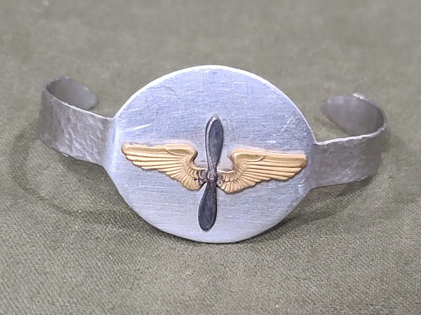 WWII Army Air Corps Trench Art Sweetheart Bracelet