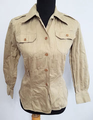WWII Army Nurse WAC Women's Tropical Field Shirt Uniform 12S