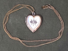 Signal Corps Heart Locket Necklace