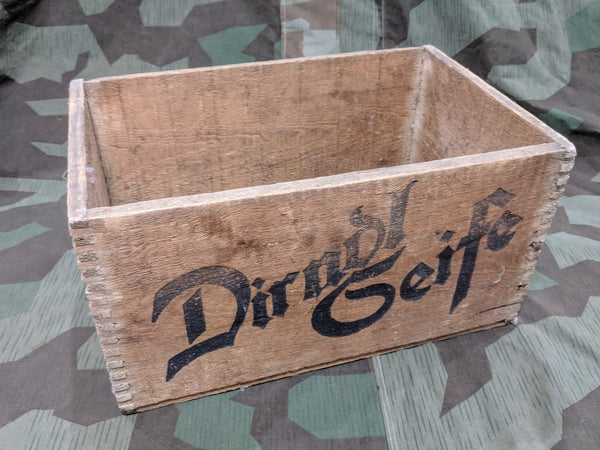 Vintage German Dirndl Seife Soap Wood Shipping Crate Box