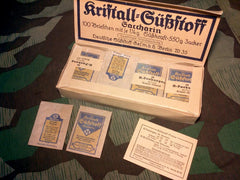 WWII Geman Rations Artificial Sweetener Saccharin H Packung