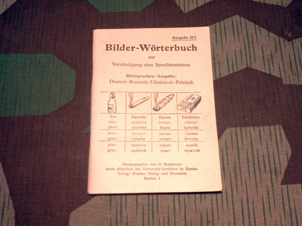WWII German-Russian-Polish-Ukrainian Picture Dictionary