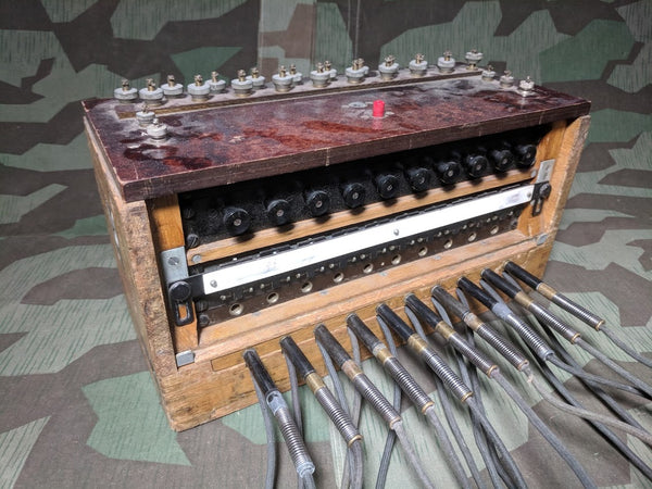 WWII German 10 Line Switchboard Klappenschrank 1944