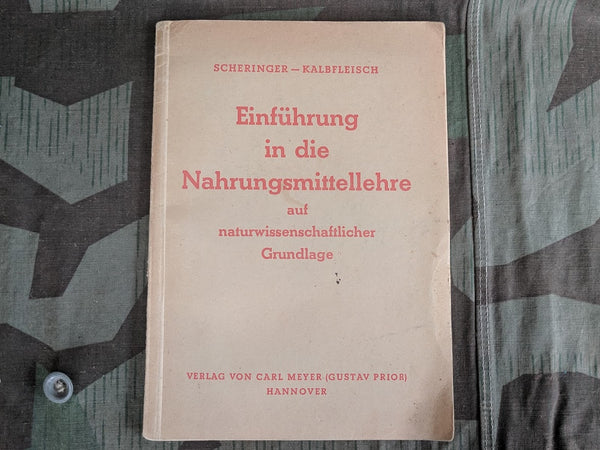 WWII German 1944 Nutritional Guide Book