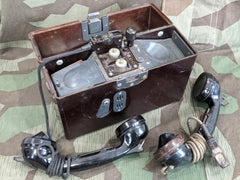 WWII German 1944 Working FF33 Field Phone Panzer Gray