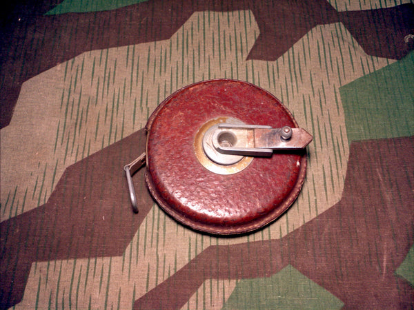 WWII German 20M Steel & Leather Tape Measure