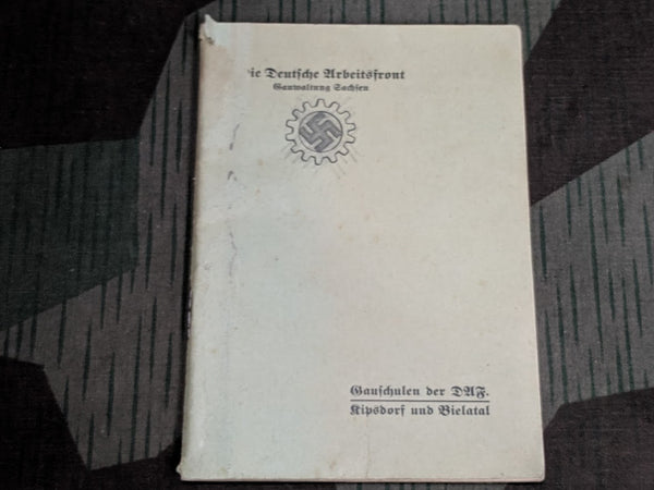 WWII German Arbeitsfront Song Book