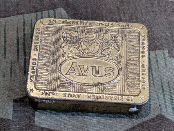 WWII German Avus Cigarette Tin