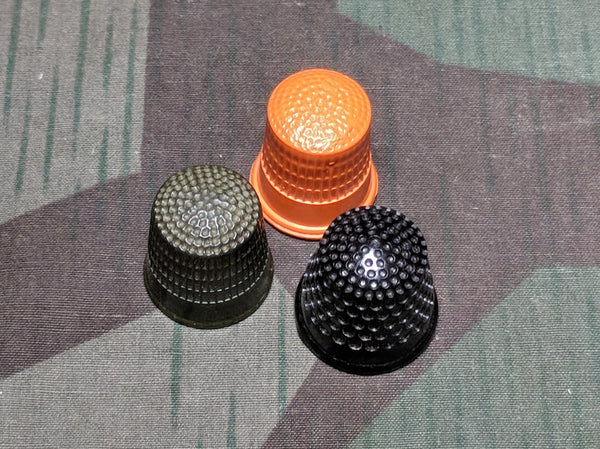 "Vintage 1940s Colorful Bakelite Thimbles ""Finger Hats"""