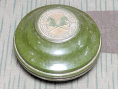 WWII German Bergmann & Co. DRGM Green Bakelite Soap/Perfume Container