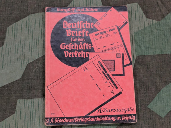 WWII German Book About Filling Out Paperwork 1940