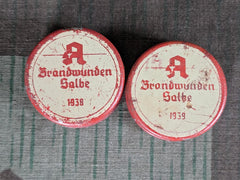 WWII German Brandwunden Salbe 1938/1939 Burn Wound Salve Tin