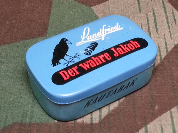 "WWII German Chewing Tobacco Tin ""Der Wahre Jakob"""