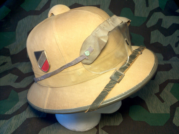 WWII German DAK First Pattern Pith Helmet Afrika Corps