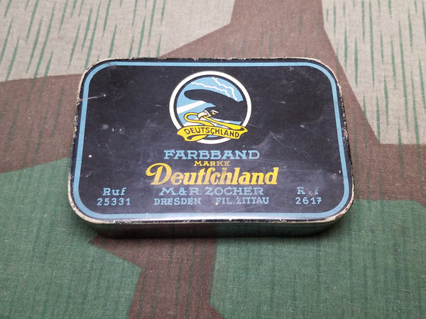 WWII German Deutschland Typewriter Ribbon Tin