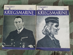 WWII German Die Kriegsmarine Magazines: 1st & 2nd Issue of Jan 1944