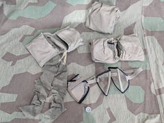 WWII German Dust Goggles Set 2 Clear and 2 Tinted