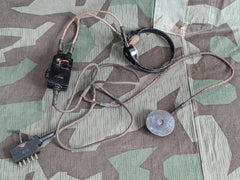 WWII German FF33 Throat Microphone Headset AS-IS