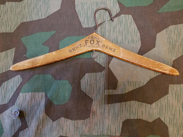 WWII German Fox D.R.W.Z. Wooden Hanger