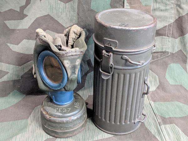 WWII German Gas Mask in Canister