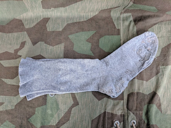 WWII German Gray Heavily Repaired Socks