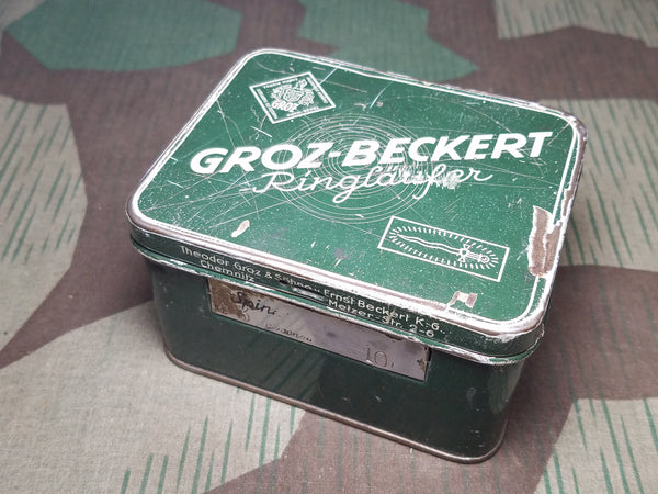 WWII German Groz-Beckert Hardware Tin
