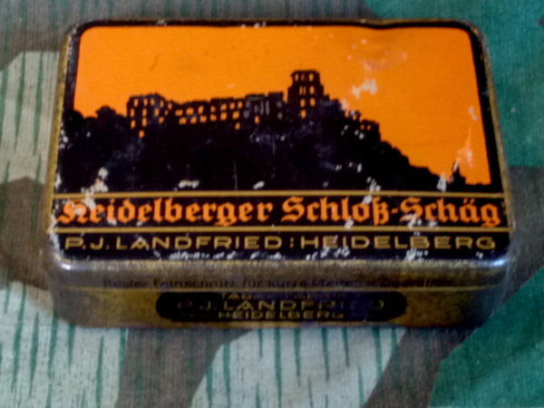 WWII German Heidelberger Schloß Schäg Pipe Tobacco Tin