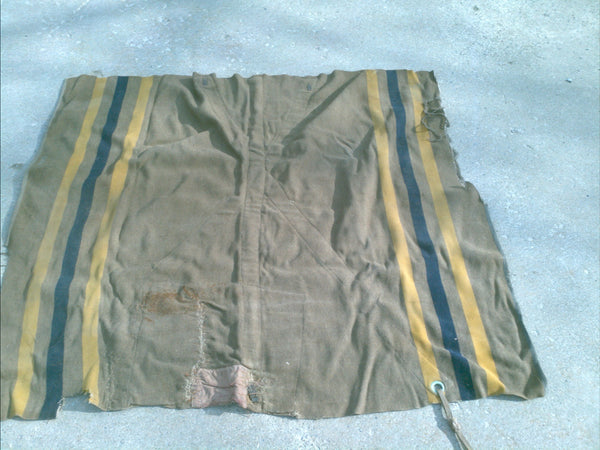 WWII German Horse Blanket Blue and Yellow