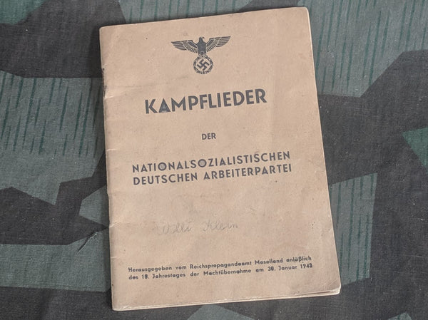 WWII German Kampflieder der NSDAP Song Book 1943