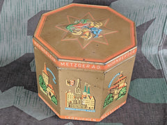WWII German Lebkuchen Cookie Tin Adolf Hitler Platz