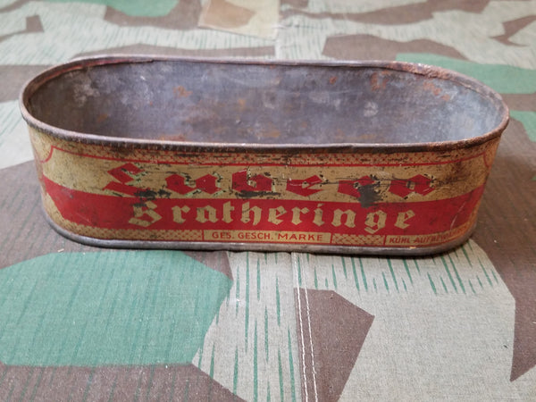 WWII German Lubern Bratheringe Herring Fish Tin