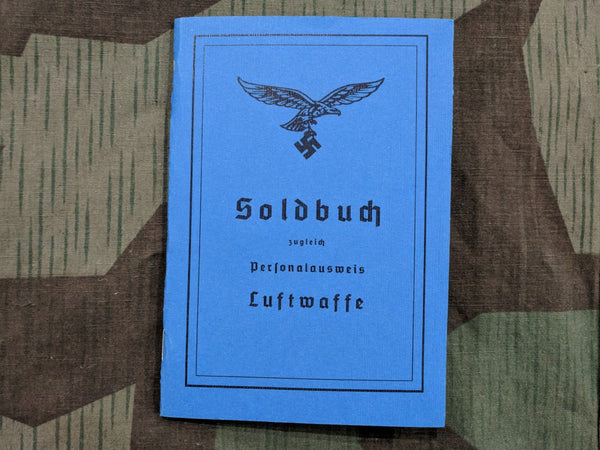 WWII German Luftwaffe Soldbuch Reproduction