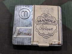WWII German Manoli Privat Cigarette Tin