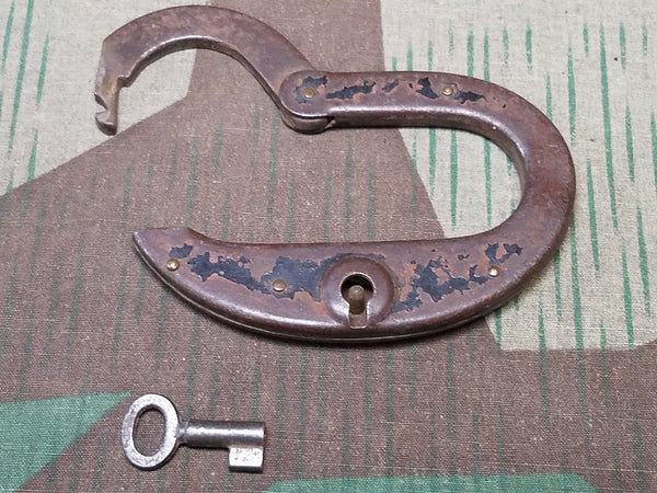 WWII German Oblong Lock and Key