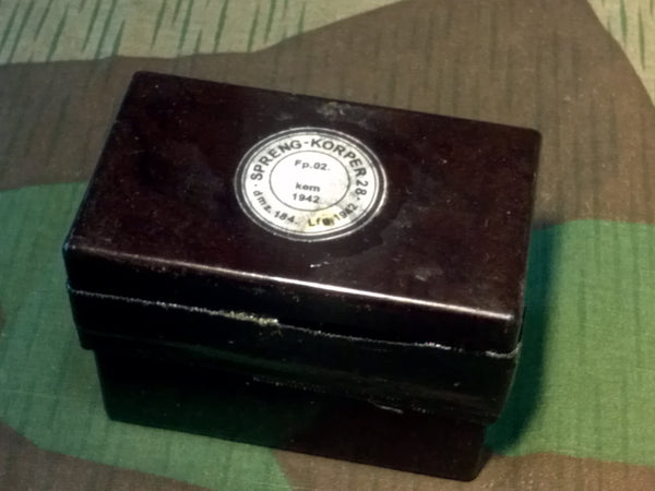 WWII German Original Display 250 Gram Bakelite Case Charge